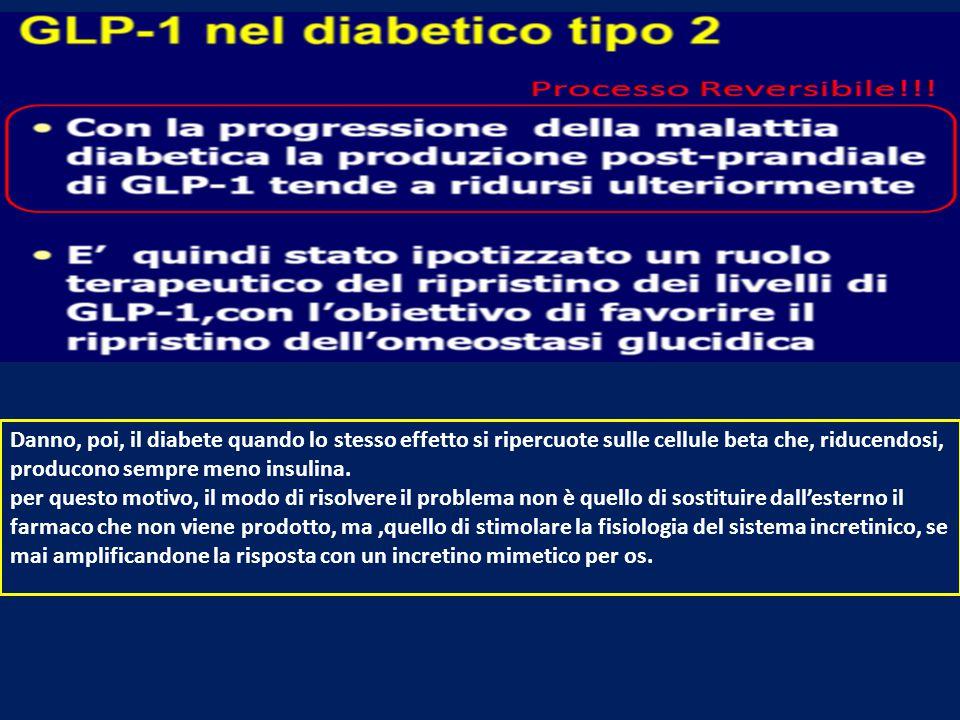 Danno, poi, il diabete quando lo stesso effetto si ripercuote sulle cellule beta che, riducendosi, producono sempre meno insulina. per questo motivo,