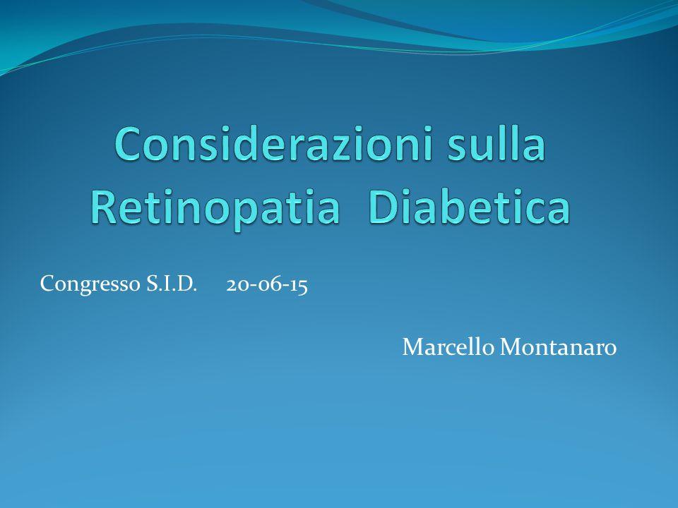 - La retinopatia diabetica ha evidenziato un importantissimo cambiamento epidemiologico e morfologico negli ultimi 10 anni.
