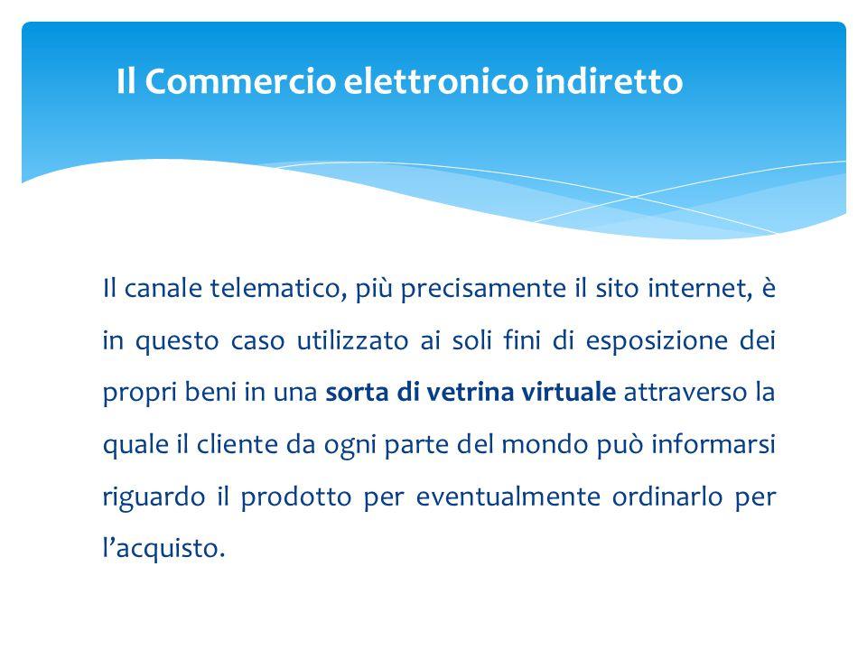 Il canale telematico, più precisamente il sito internet, è in questo caso utilizzato ai soli fini di esposizione dei propri beni in una sorta di vetri
