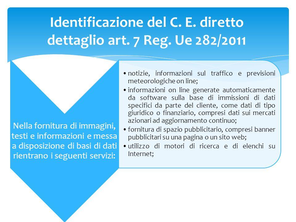 Nella fornitura di immagini, testi e informazioni e messa a disposizione di basi di dati rientrano i seguenti servizi: notizie, informazioni sul traff