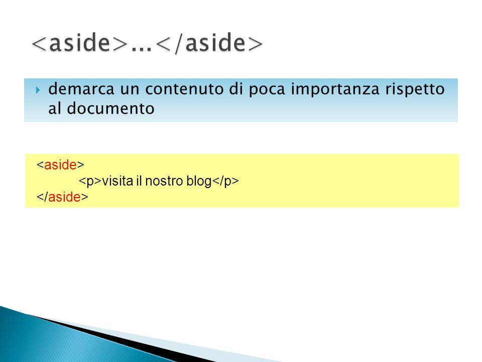  demarca un contenuto di poca importanza rispetto al documento visita il nostro blog