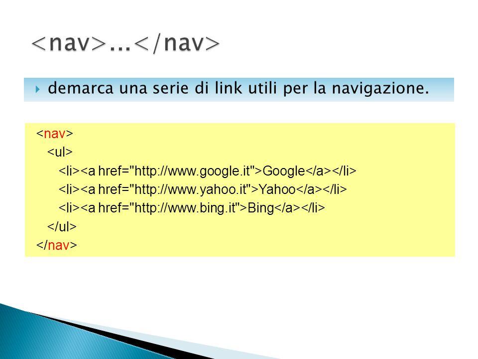  demarca una serie di link utili per la navigazione. Google Yahoo Bing