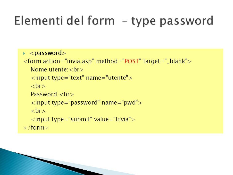  Nome utente: Password: