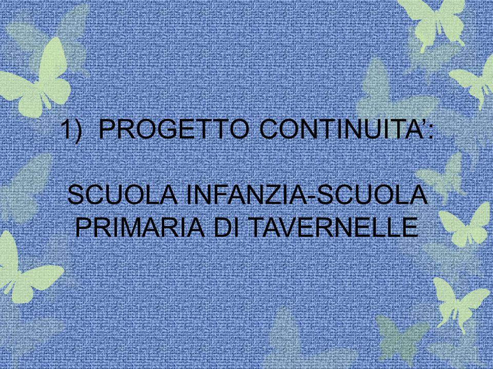 1) PROGETTO CONTINUITA': SCUOLA INFANZIA-SCUOLA PRIMARIA DI TAVERNELLE