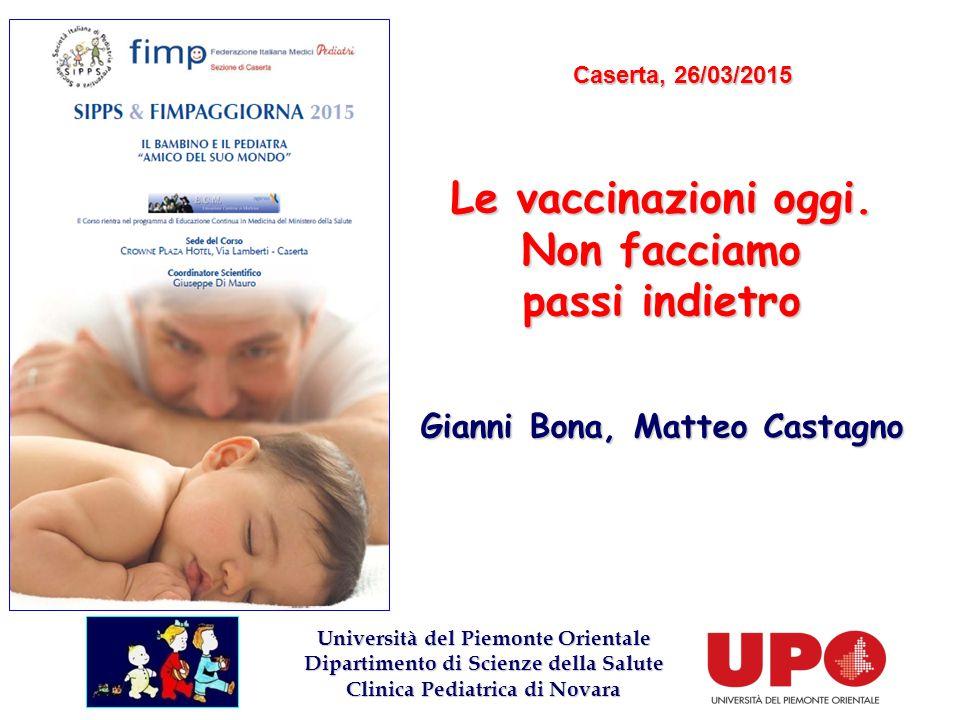 Le vaccinazioni oggi. Non facciamo passi indietro Gianni Bona, Matteo Castagno LOGODELCONGRESSO Università del Piemonte Orientale Dipartimento di Scie