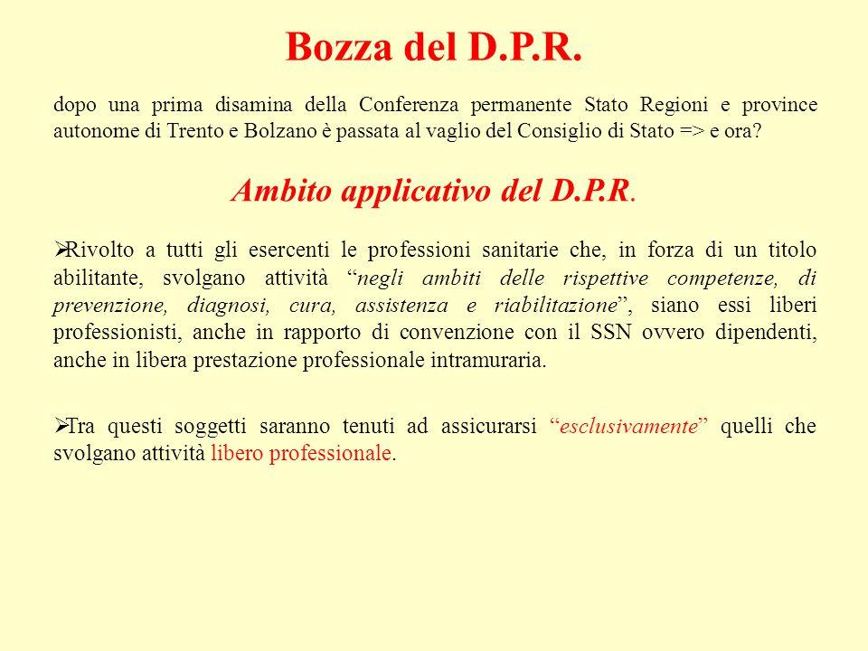 Bozza del D.P.R.