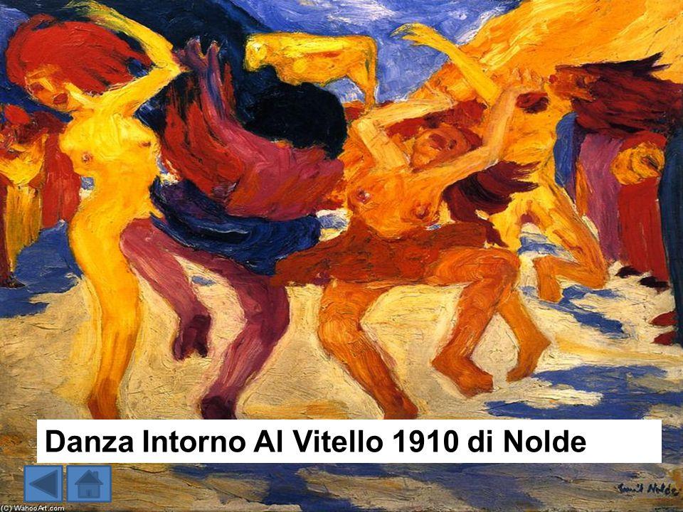 Danza Intorno Al Vitello 1910 di Nolde