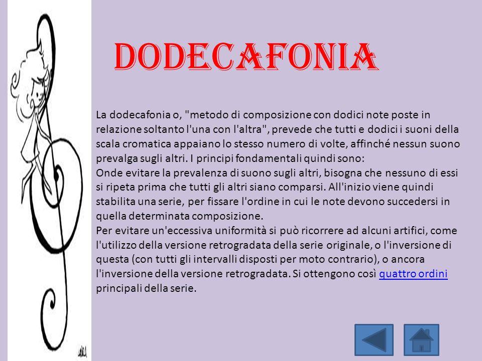 La dodecafonia o,
