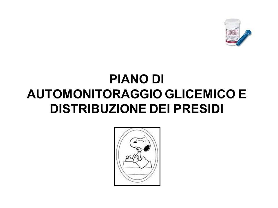 PIANO DI AUTOMONITORAGGIO GLICEMICO E DISTRIBUZIONE DEI PRESIDI