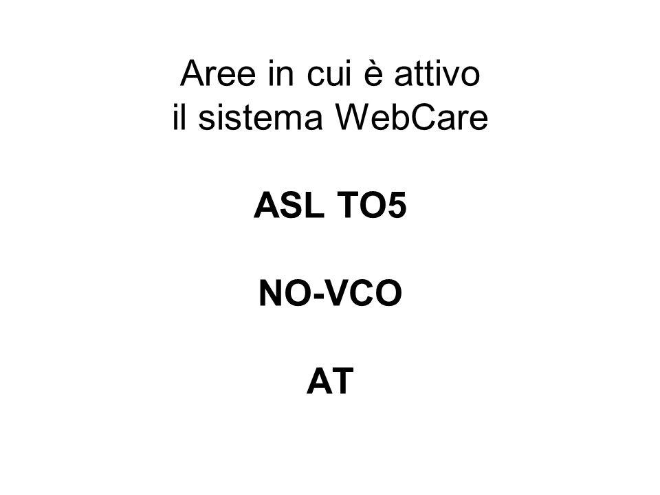 Aree in cui è attivo il sistema WebCare ASL TO5 NO-VCO AT