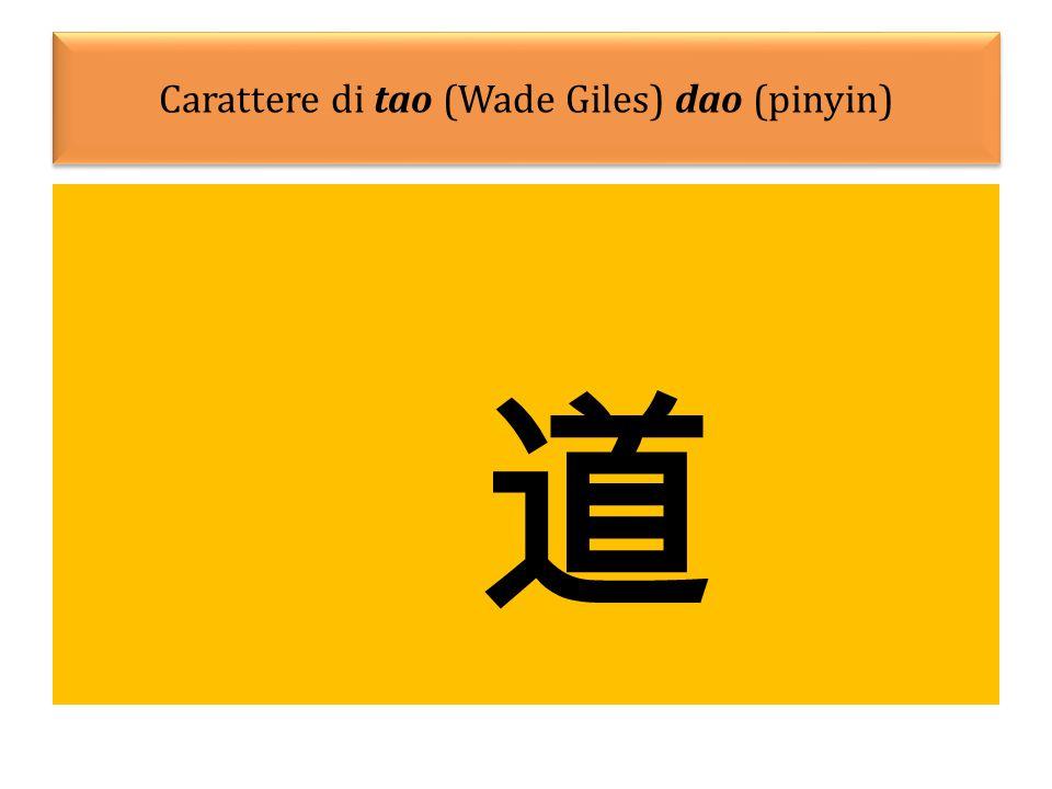 Carattere di tao (Wade Giles) dao (pinyin) 道