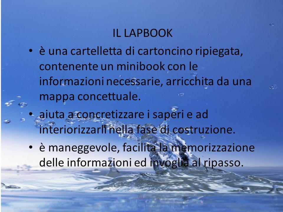 IL LAPBOOK è una cartelletta di cartoncino ripiegata, contenente un minibook con le informazioni necessarie, arricchita da una mappa concettuale. aiut