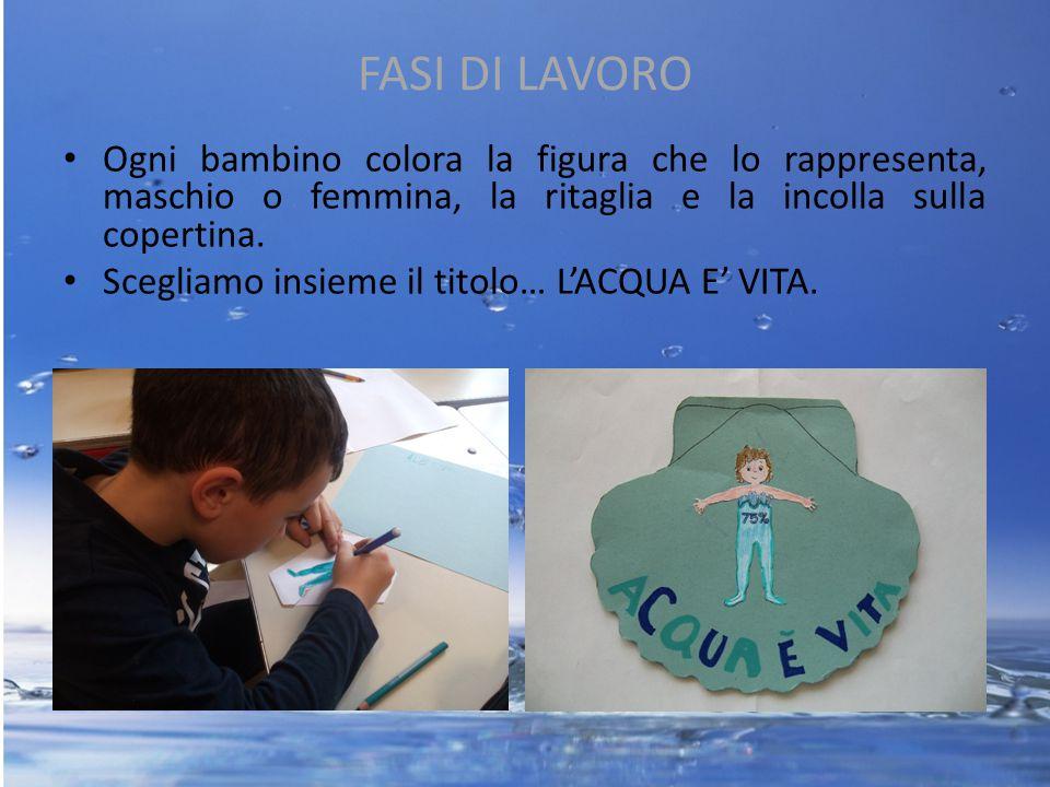 FASI DI LAVORO Ogni bambino colora la figura che lo rappresenta, maschio o femmina, la ritaglia e la incolla sulla copertina. Scegliamo insieme il tit