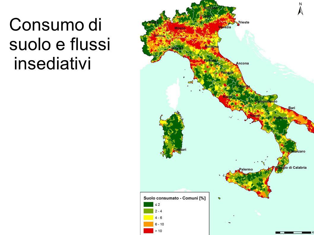 Consumo di suolo e flussi insediativi