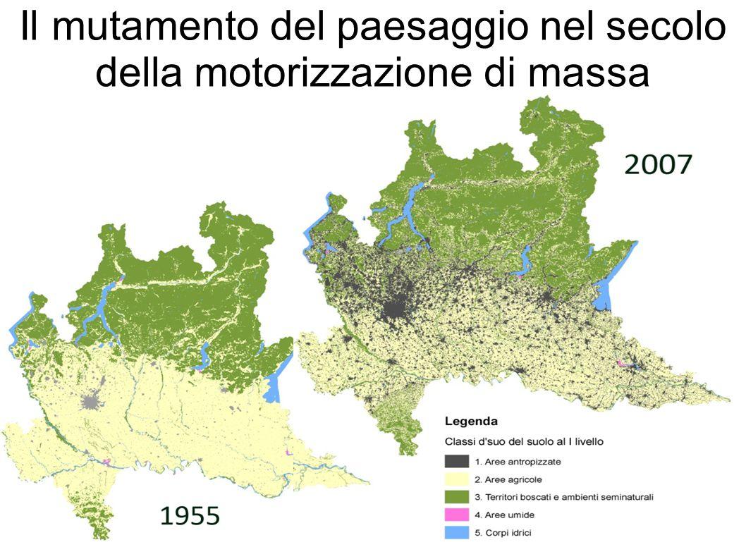 Il mutamento del paesaggio nel secolo della motorizzazione di massa