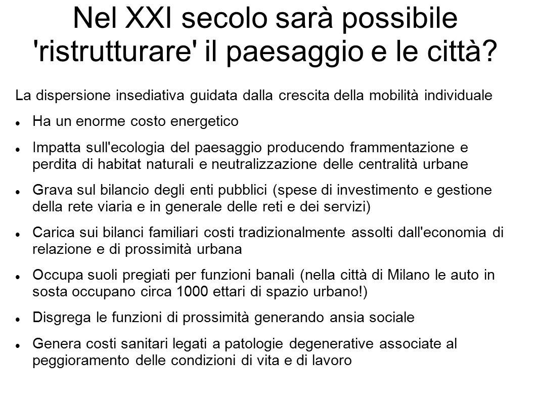 Nel XXI secolo sarà possibile ristrutturare il paesaggio e le città.