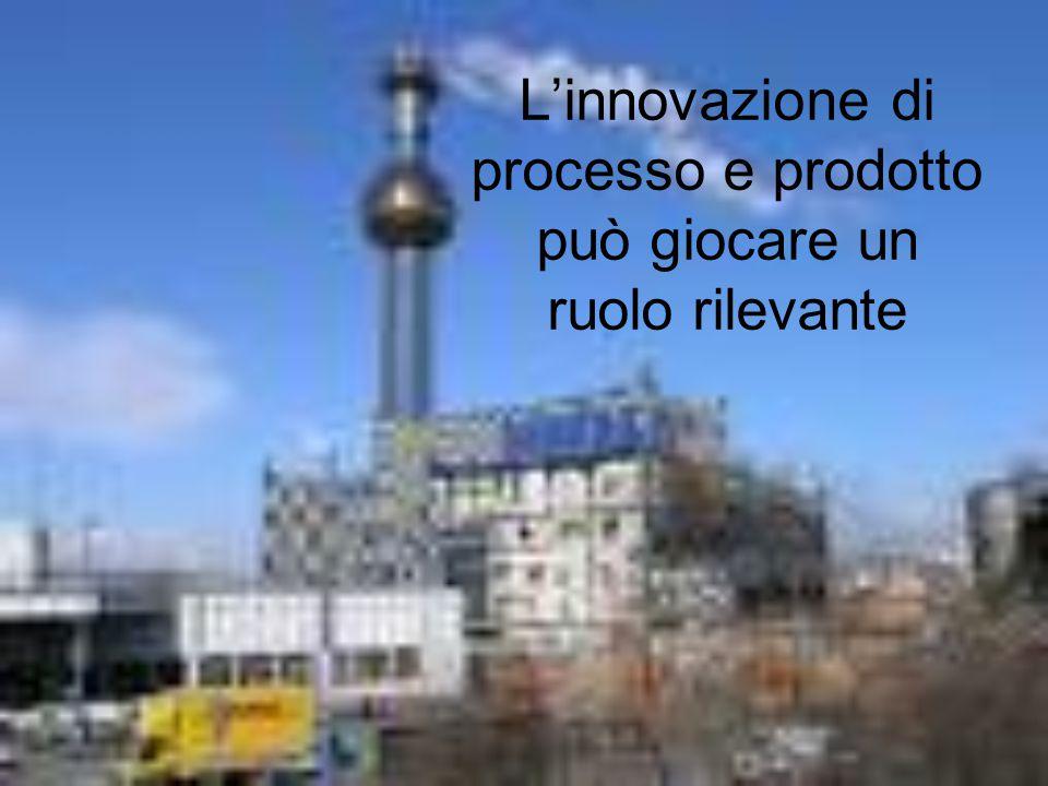 L'innovazione di processo e prodotto può giocare un ruolo rilevante