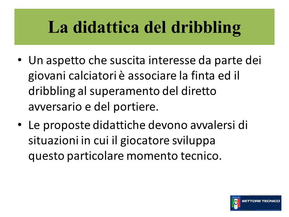Un aspetto che suscita interesse da parte dei giovani calciatori è associare la finta ed il dribbling al superamento del diretto avversario e del portiere.