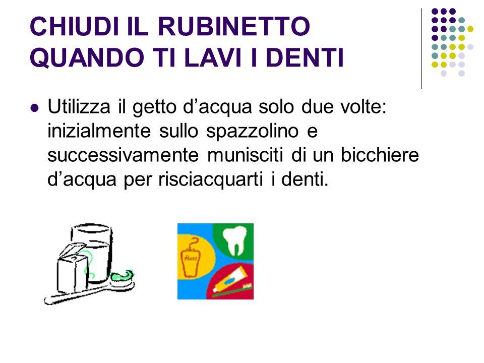 SPRECO MENO SUBITO! Mese dell'acqua Le regole d'oro blu AMREF Italia
