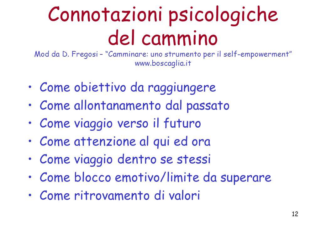 12 Connotazioni psicologiche del cammino Mod da D.