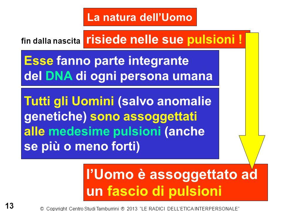 La natura dell'Uomo risiede nelle sue pulsioni ! Esse fanno parte integrante del DNA di ogni persona umana Tutti gli Uomini (salvo anomalie genetiche)