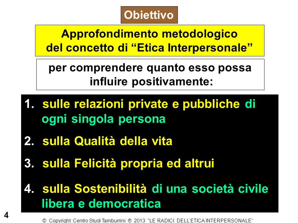 """Approfondimento metodologico del concetto di """"Etica Interpersonale"""" Obiettivo per comprendere quanto esso possa influire positivamente: 1. sulle relaz"""
