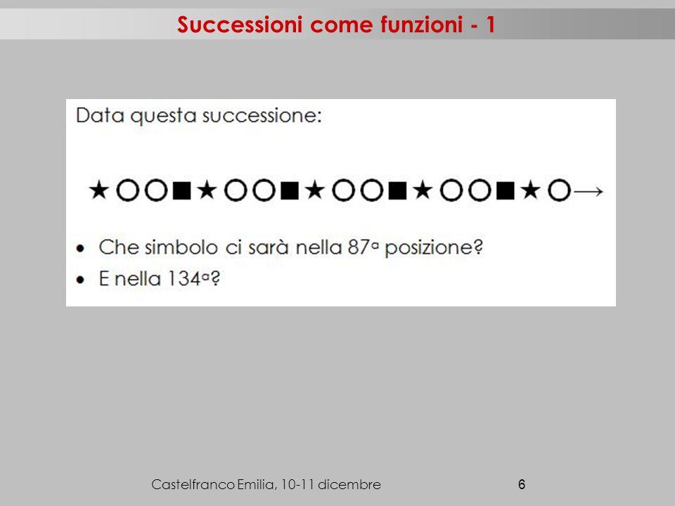 Successioni come funzioni - 1 Castelfranco Emilia, 10-11 dicembre 6
