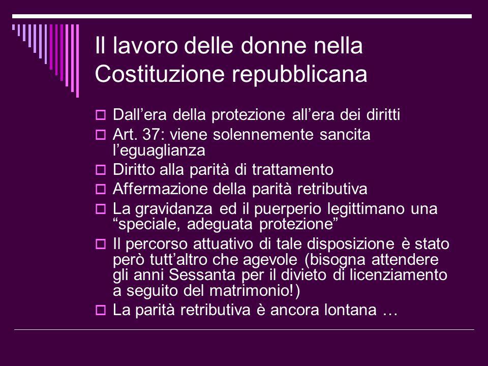Le tappe successive  La revisione della normativa sulla tutela della maternità: l.