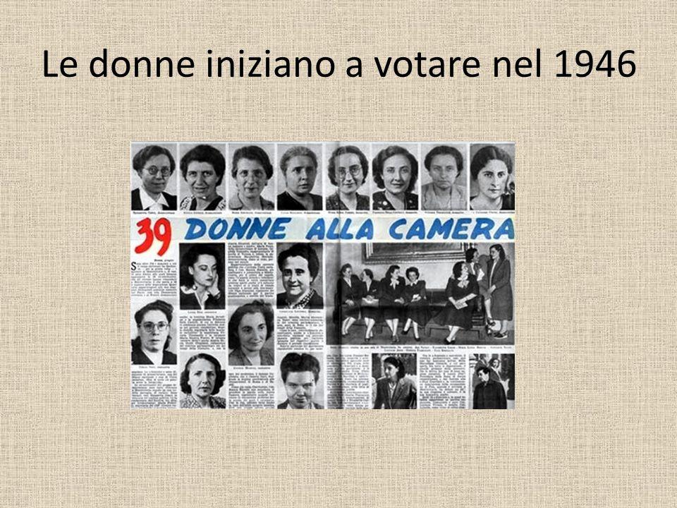 Le donne iniziano a votare nel 1946