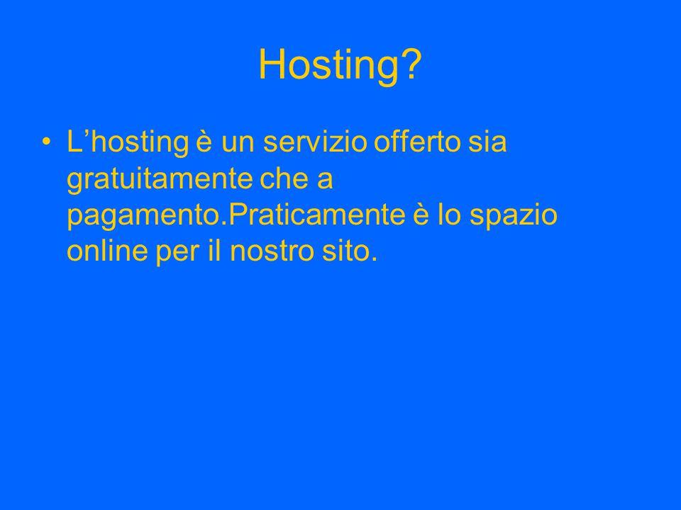Hosting.