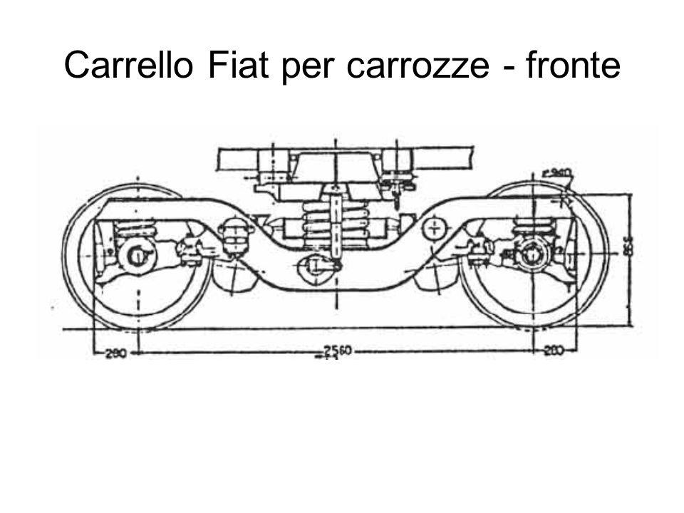 Carrello Fiat per carrozze - pianta