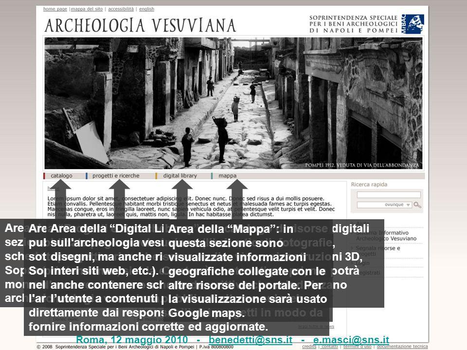 """Area del catalogo: in questa sezione sono pubblicate le schede di catalogo della Soprintendenza (siti, monumenti, oggetti archeologici) Area """"Progetti"""
