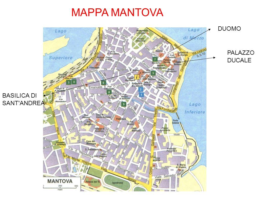 MAPPA MANTOVA PALAZZO DUCALE DUOMO BASILICA DI SANT'ANDREA
