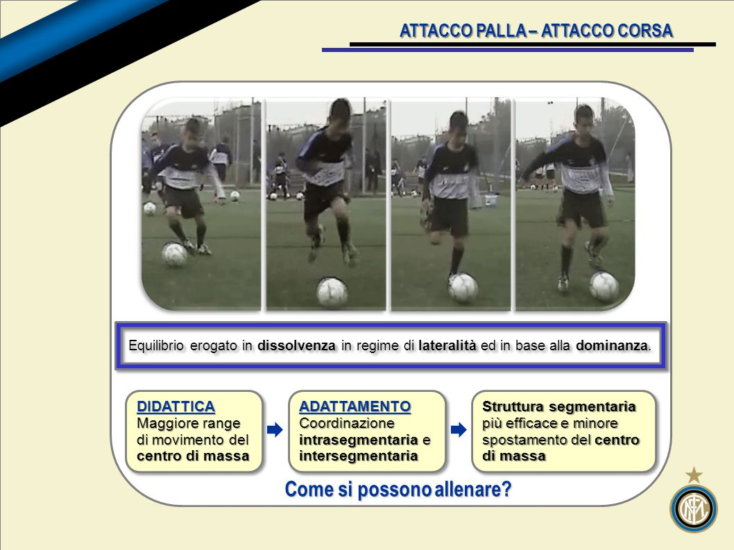 v ATTACCO PALLA – ATTACCO CORSA Come si possono allenare.