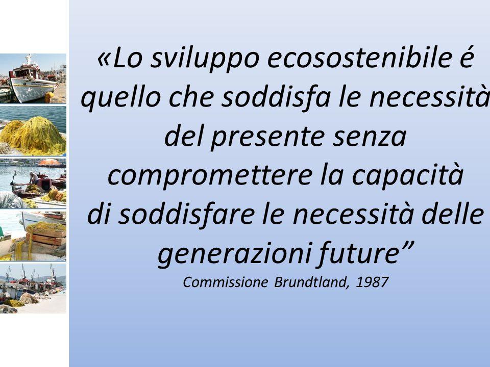 «Lo sviluppo ecosostenibile é quello che soddisfa le necessità del presente senza compromettere la capacità di soddisfare le necessità delle generazioni future Commissione Brundtland, 1987