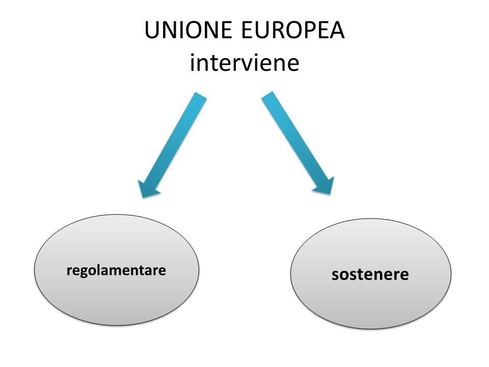 UNIONE EUROPEA interviene regolamentare sostenere