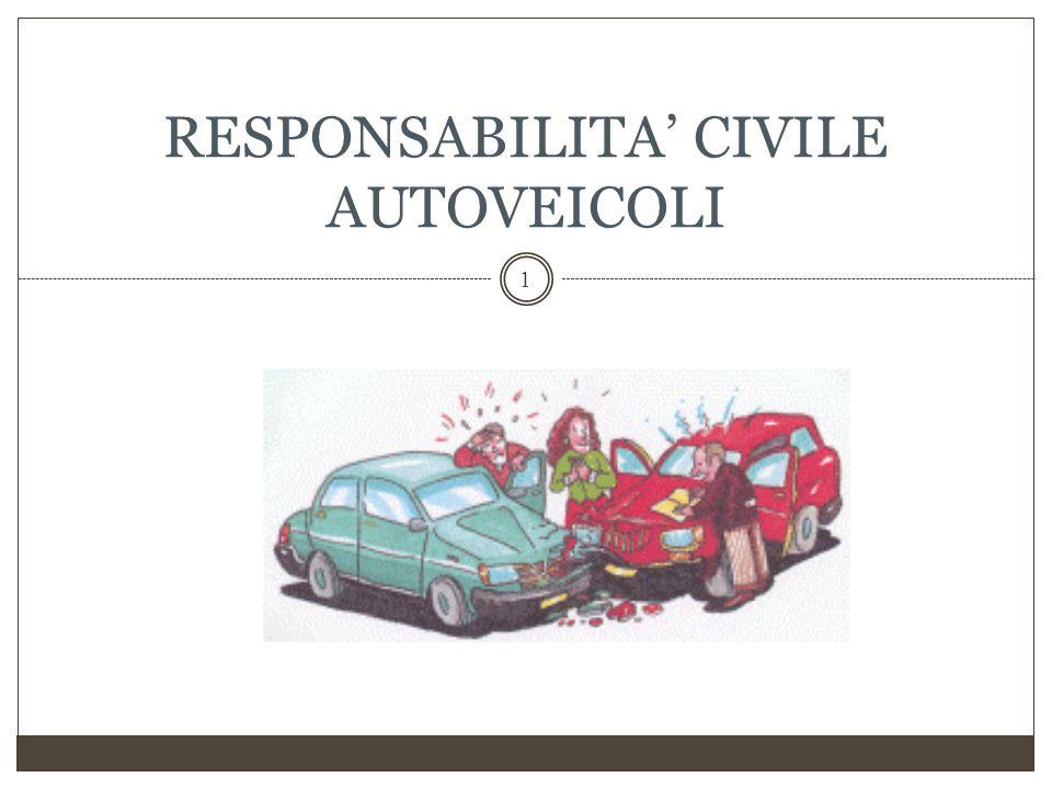 ALLA BASE DELLA RESPONSABILITÀ CIVILE DERIVANTE DALLA CIRCOLAZIONE DI VEICOLI E PIÙ IN GENERALE DELL'ASSICURAZIONE R.C.
