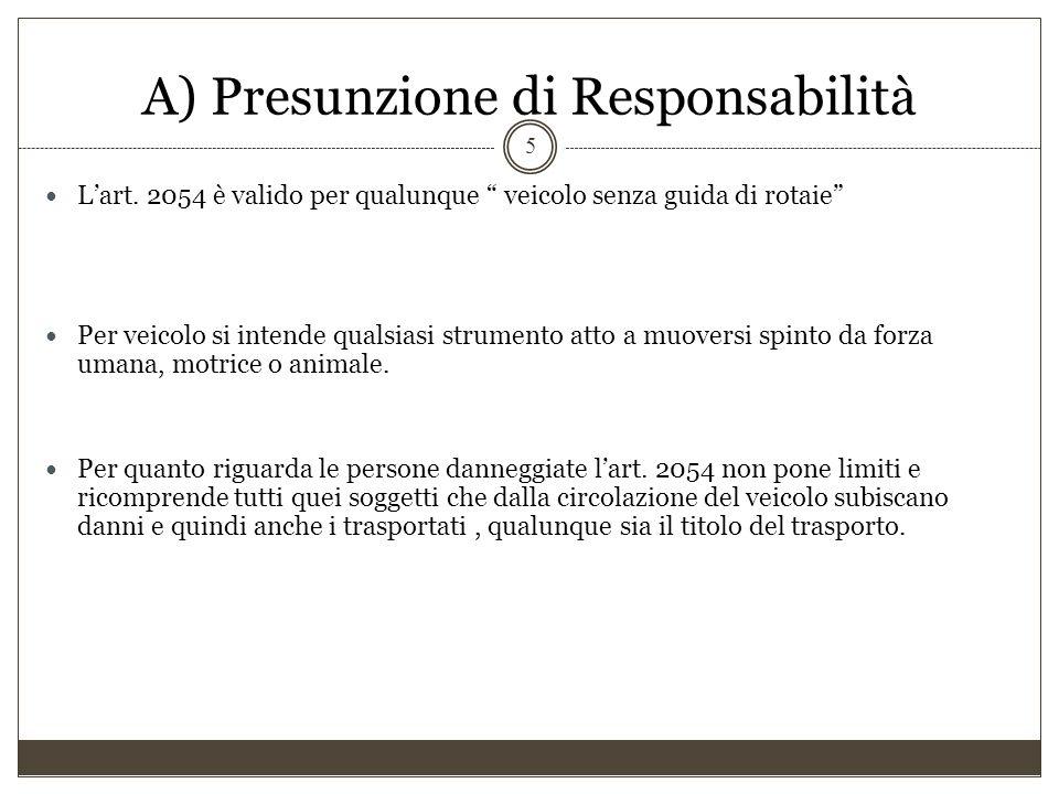 L'assicurazione obbligatoria della responsabilità civile derivante dalla circolazione dei veicolo D) Il concetto di terzi nella R.C.
