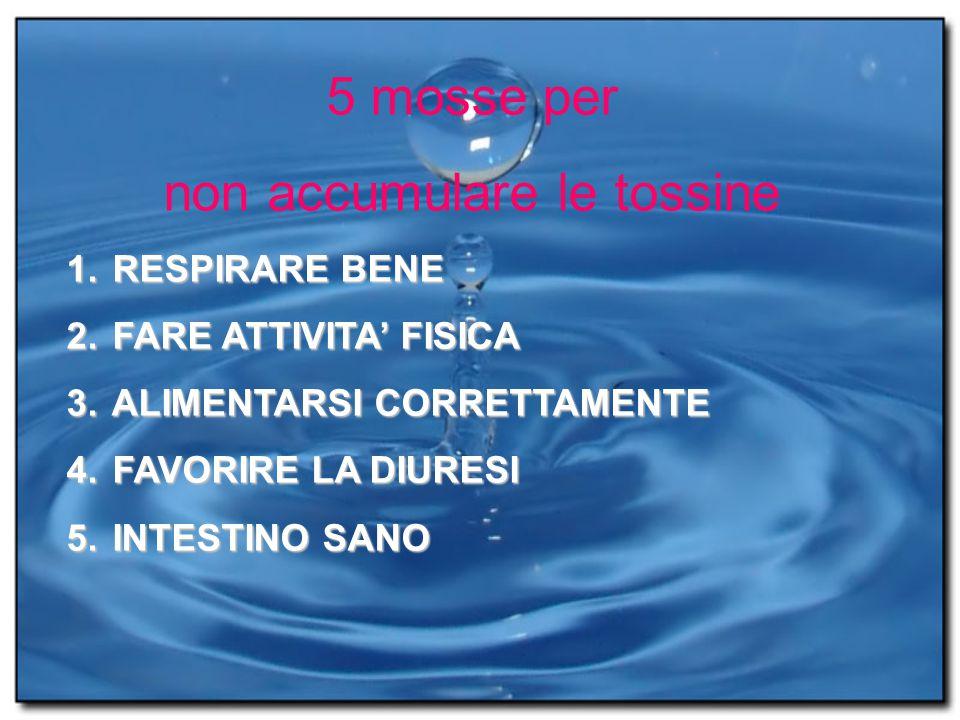 5 mosse per non accumulare le tossine 1.RESPIRARE BENE 2.
