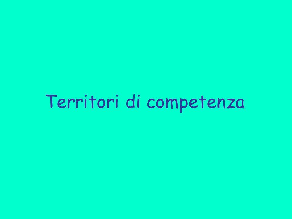 Territori di competenza