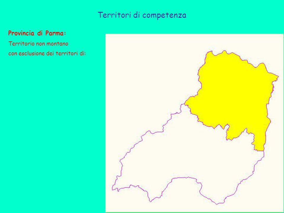 Provincia di Parma: Territorio non montano con esclusione dei territori di: