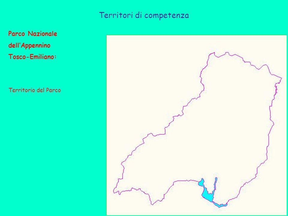 Territori di competenza Parco Nazionale dell'Appennino Tosco-Emiliano: Territorio del Parco