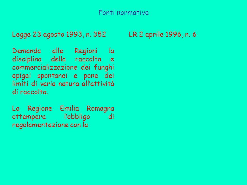 Fonti normative Legge 23 agosto 1993, n.