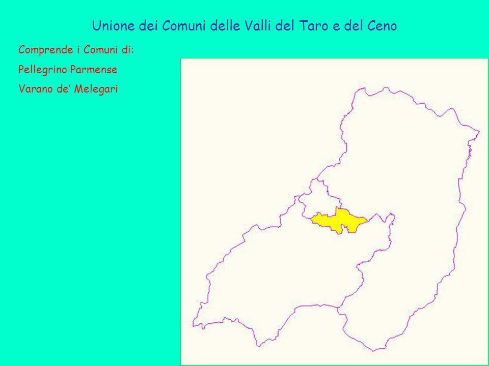 Unione dei Comuni delle Valli del Taro e del Ceno Comprende i Comuni di: Pellegrino Parmense Varano de' Melegari