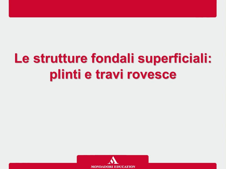 Le strutture fondali superficiali: plinti e travi rovesce Le strutture fondali superficiali: plinti e travi rovesce