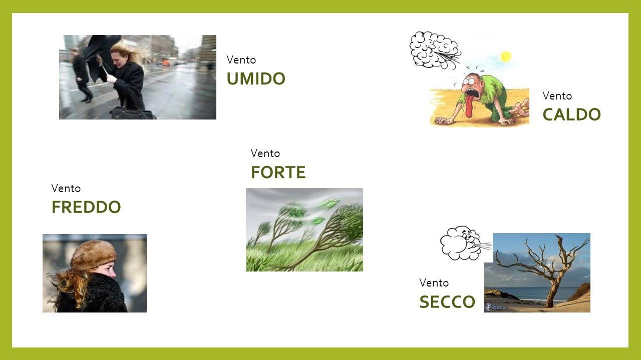 AGGETTIVI RIFERITI AL SOSTANTIVO VENTO CALDO UMIDO SECCO FORTE FREDDO