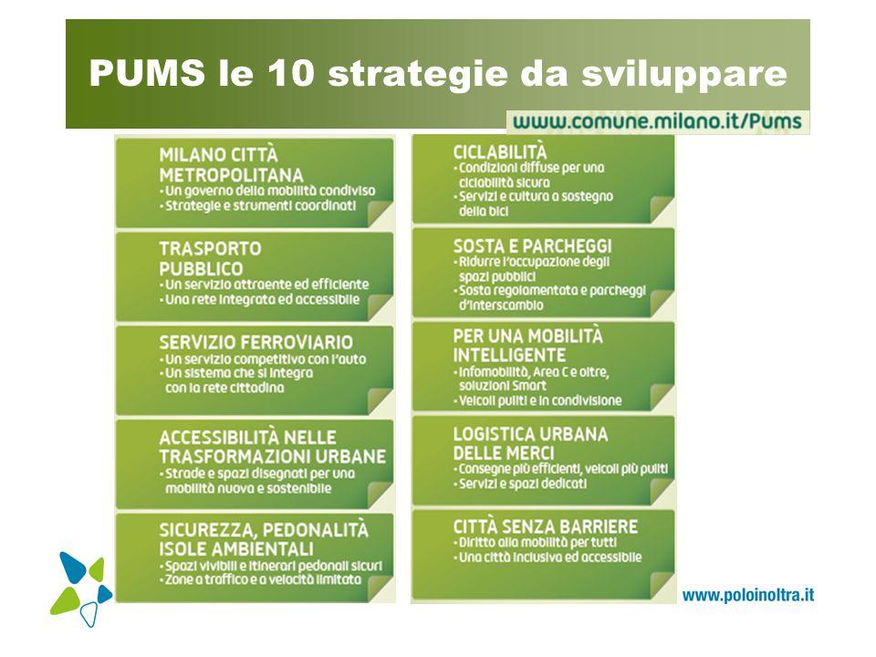 PUMS le 10 strategie da sviluppare