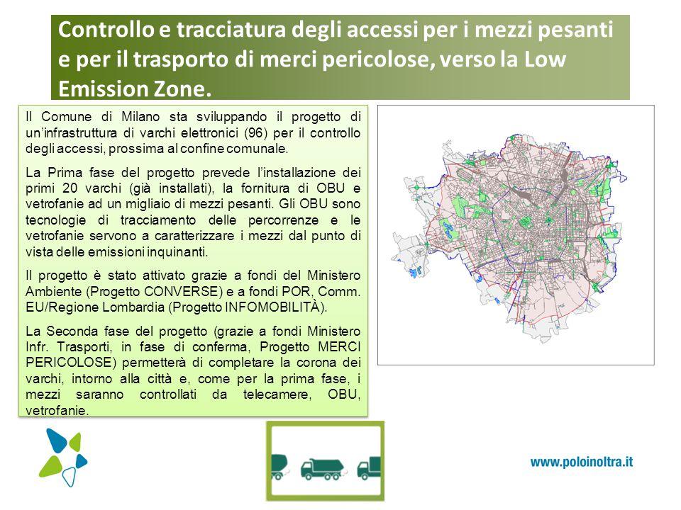 Controllo e tracciatura degli accessi per i mezzi pesanti e per il trasporto di merci pericolose, verso la Low Emission Zone. Il Comune di Milano sta
