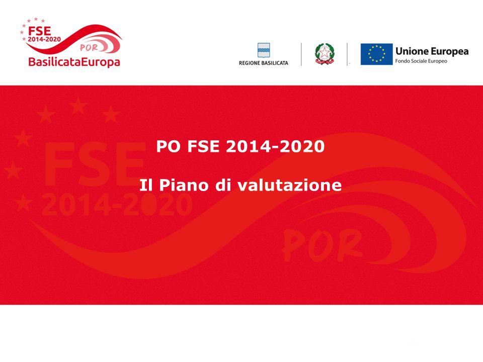 PO FSE 2014-2020 Il Piano di valutazione