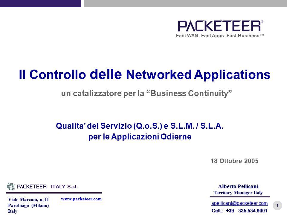 1 Viale Marconi, n. 11 Parabiago (Milano) Italy ITALY S.r.l. www.packeteer.com Alberto Pellicani Territory Manager Italy apellicani@packeteer.com Cell